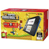 Nintendo - 2DS Console with Super Mario - Bros 2 Game Bundle