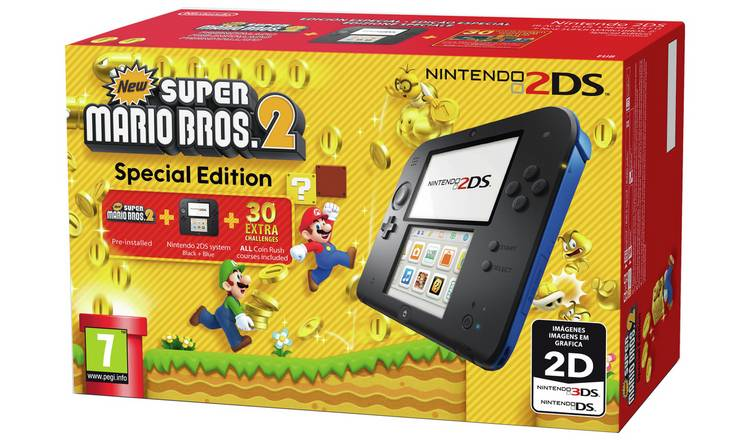 Video Games & Consoles Replacement Case No Game New Super Mario Bros 2 For 3ds