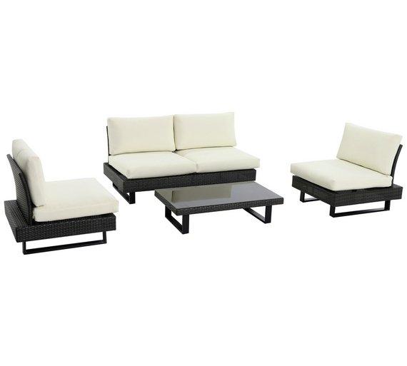 Buy Low Level Modern Rattan Seater Garden Sofa Set At Argos Co