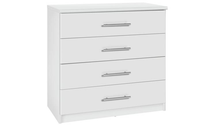 Argos Home Normandy 4 Drawer Chest of Drawers - White