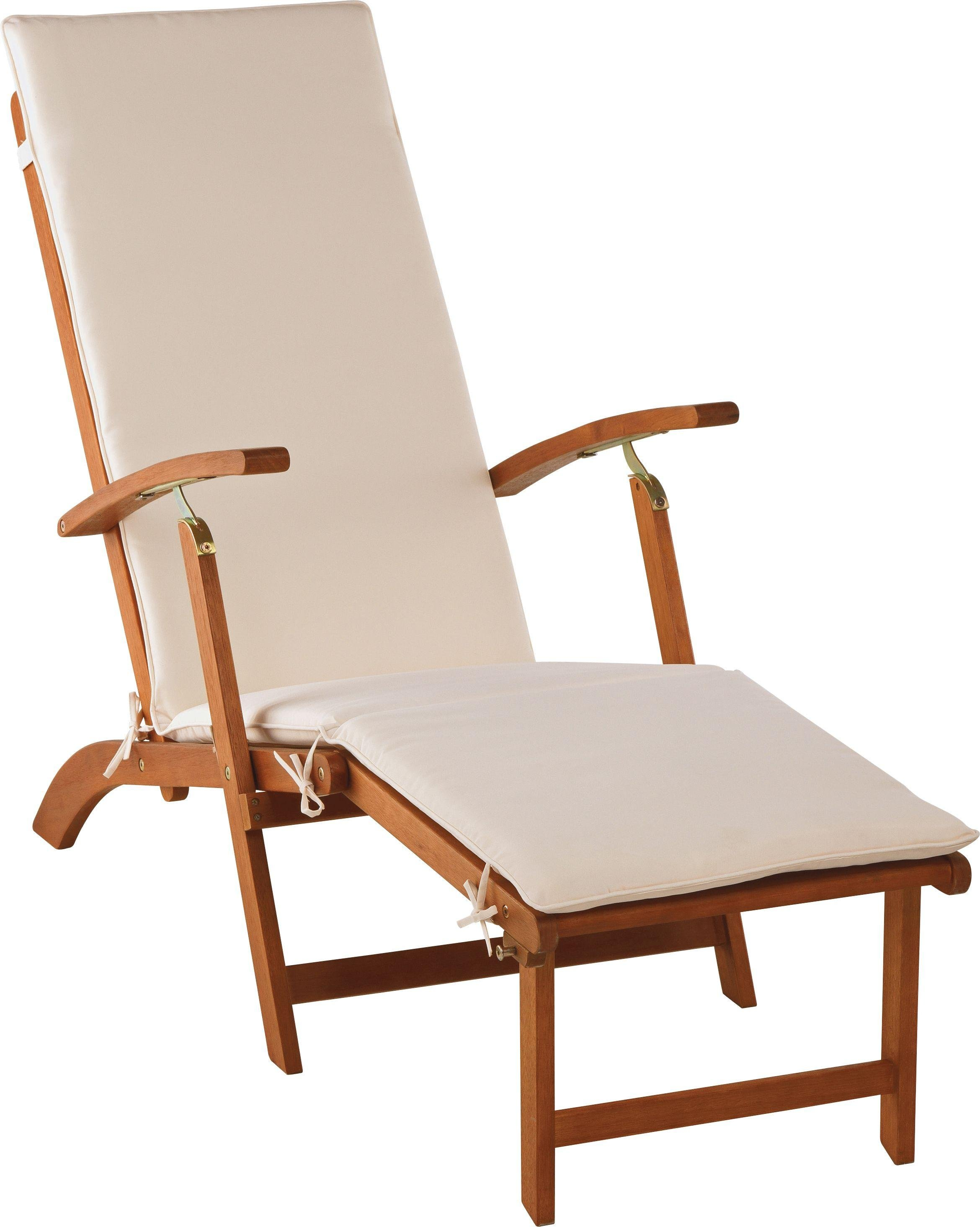 Image of HOME - Steamer Foldable Multiposition Sun Lounger with Cushion