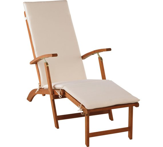 home foldable multiposition sun lounger with cushion3513219