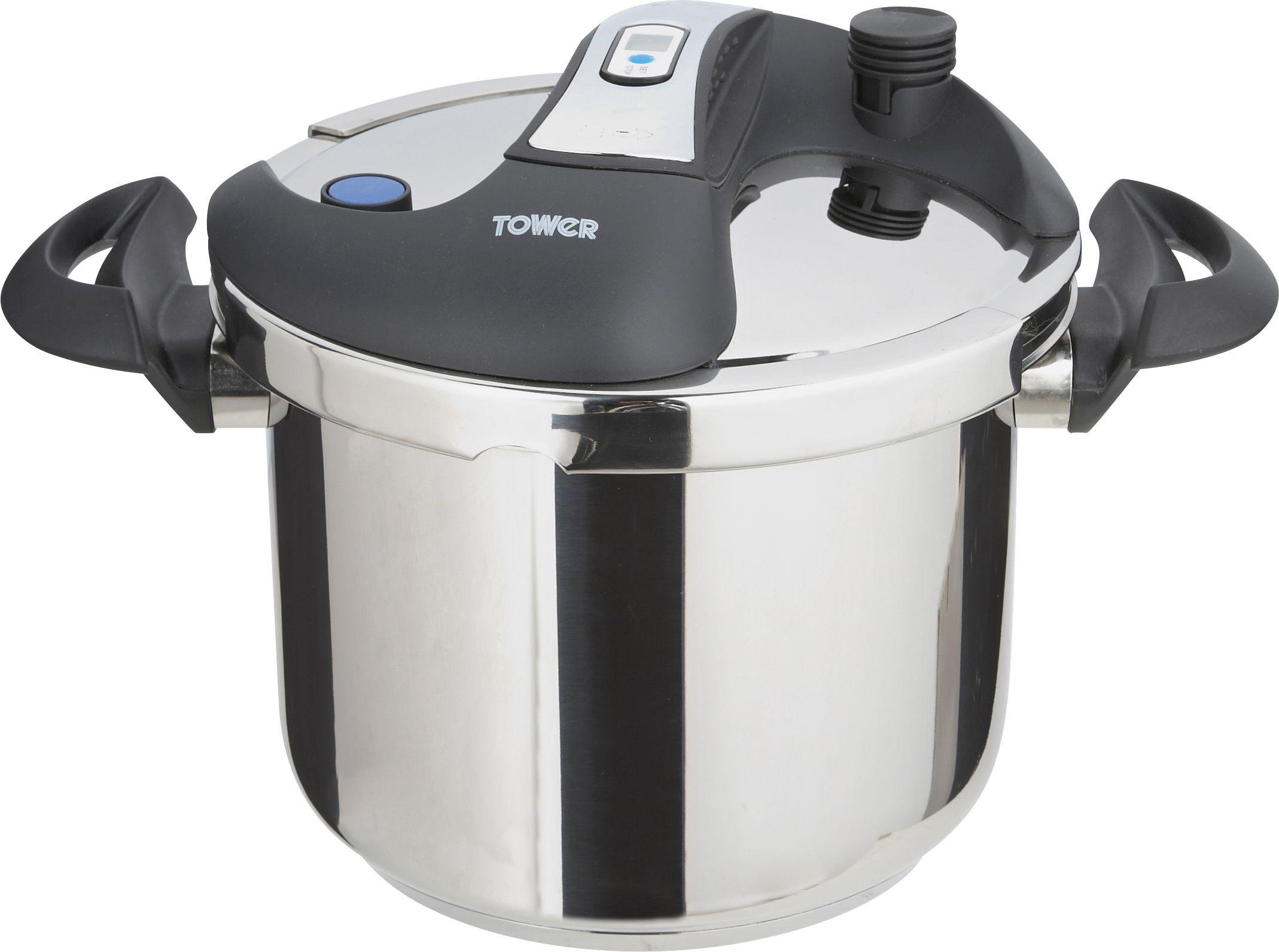 Tower 6 Litre Stainless Steel Time Pressure Cooker