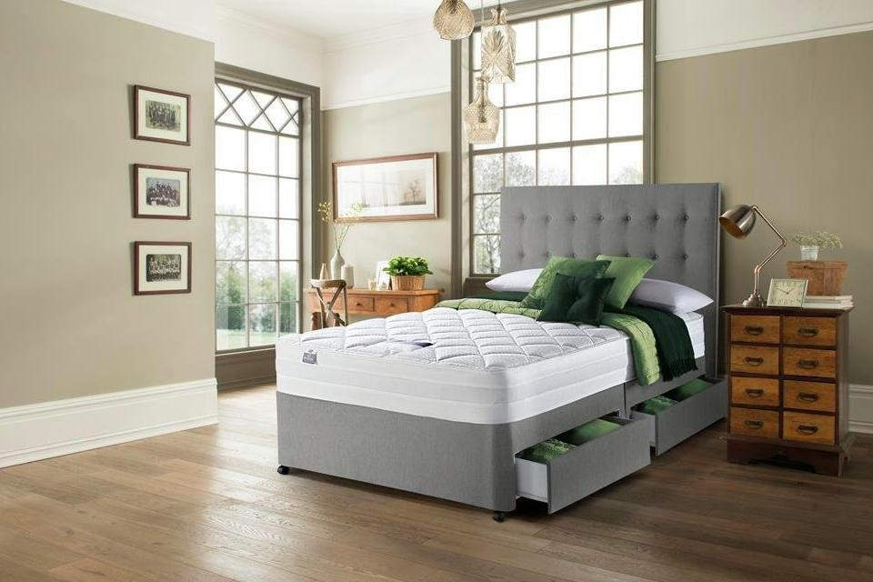Silentnight Knightly 2000 Luxury Superking 4 Drw Divan Bed.