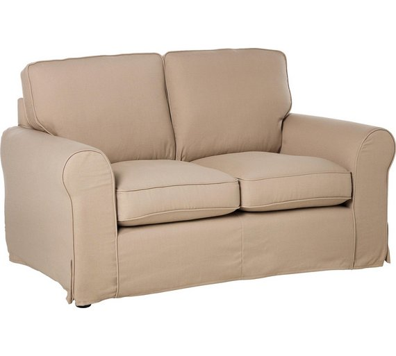 buy home charlotte 2 seater fabric sofa with loose cover