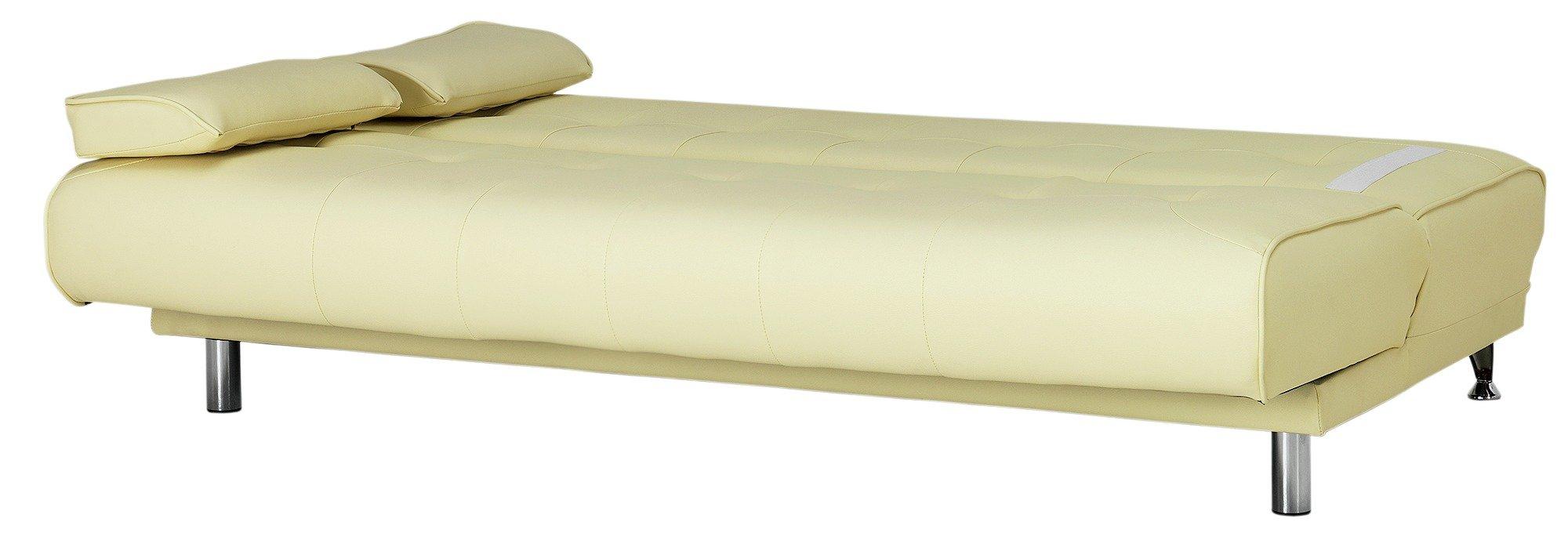 Argos Home Sicily 2 Seater Fabric Clic Clac Sofa Bed - Cream
