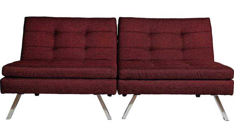 Buy Argos Home Duo 2 Seater Clic Clac Sofa Bed - Red | Sofa beds | Argos