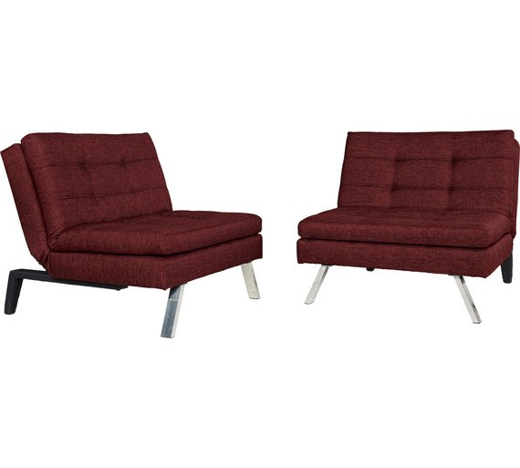 Buy Hygena Duo 2 Seater Clic Clac Sofa Bed - Red at Argos.co.uk ...