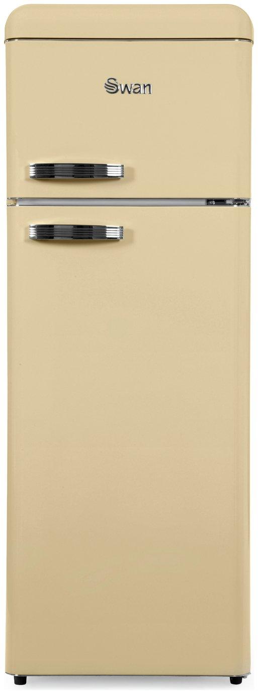 Swan SR11010CN Retro Tall Fridge Freezer - Cream