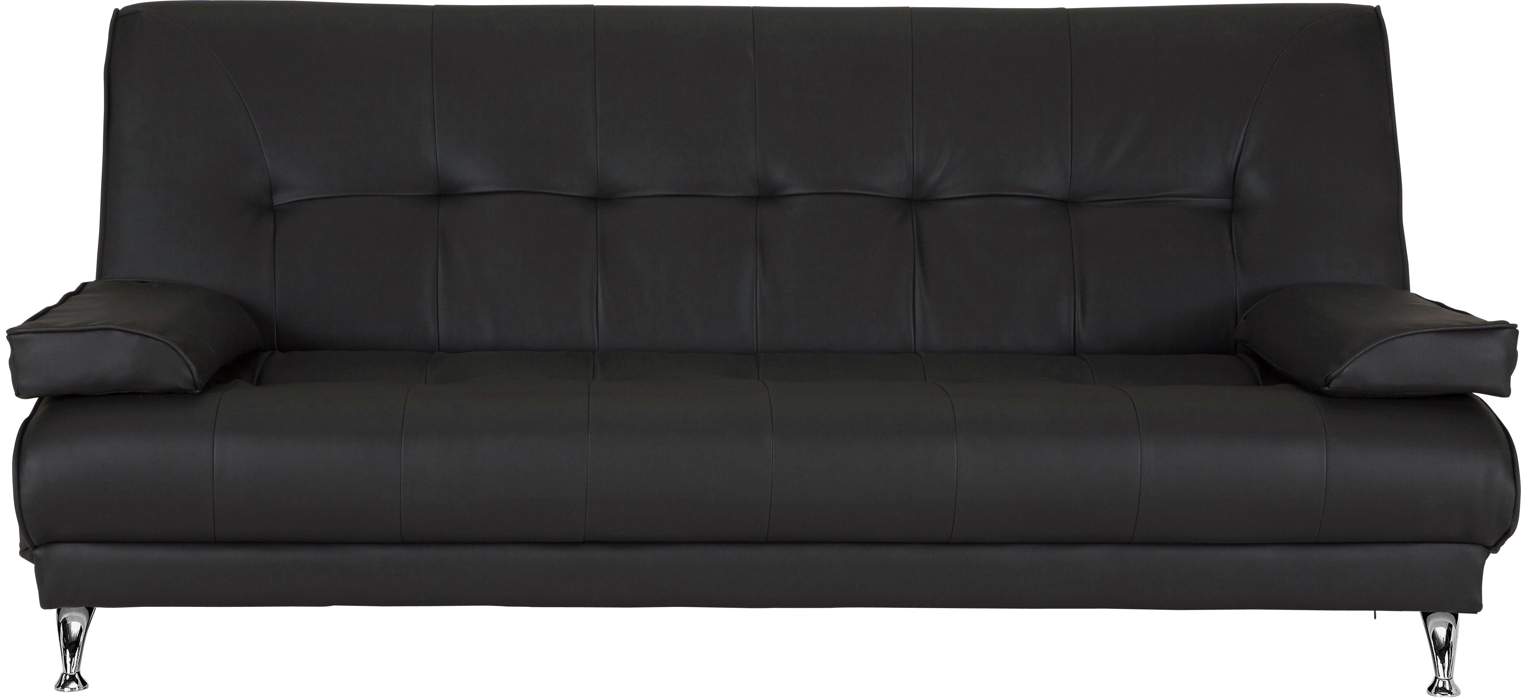Argos Home Sicily 2 Seater Fabric Clic Clac Sofa Bed - Black