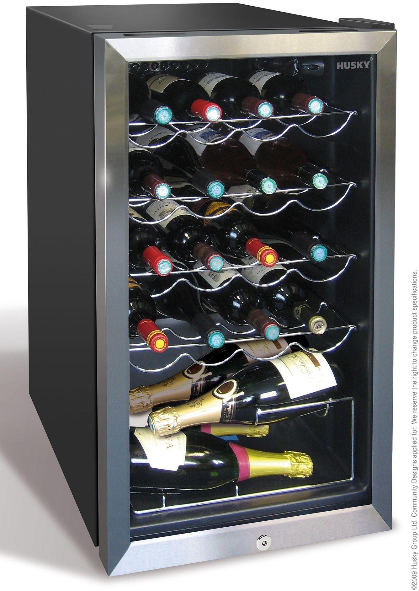 husky hm39 under counter wine cooler black - Under Counter Wine Fridge