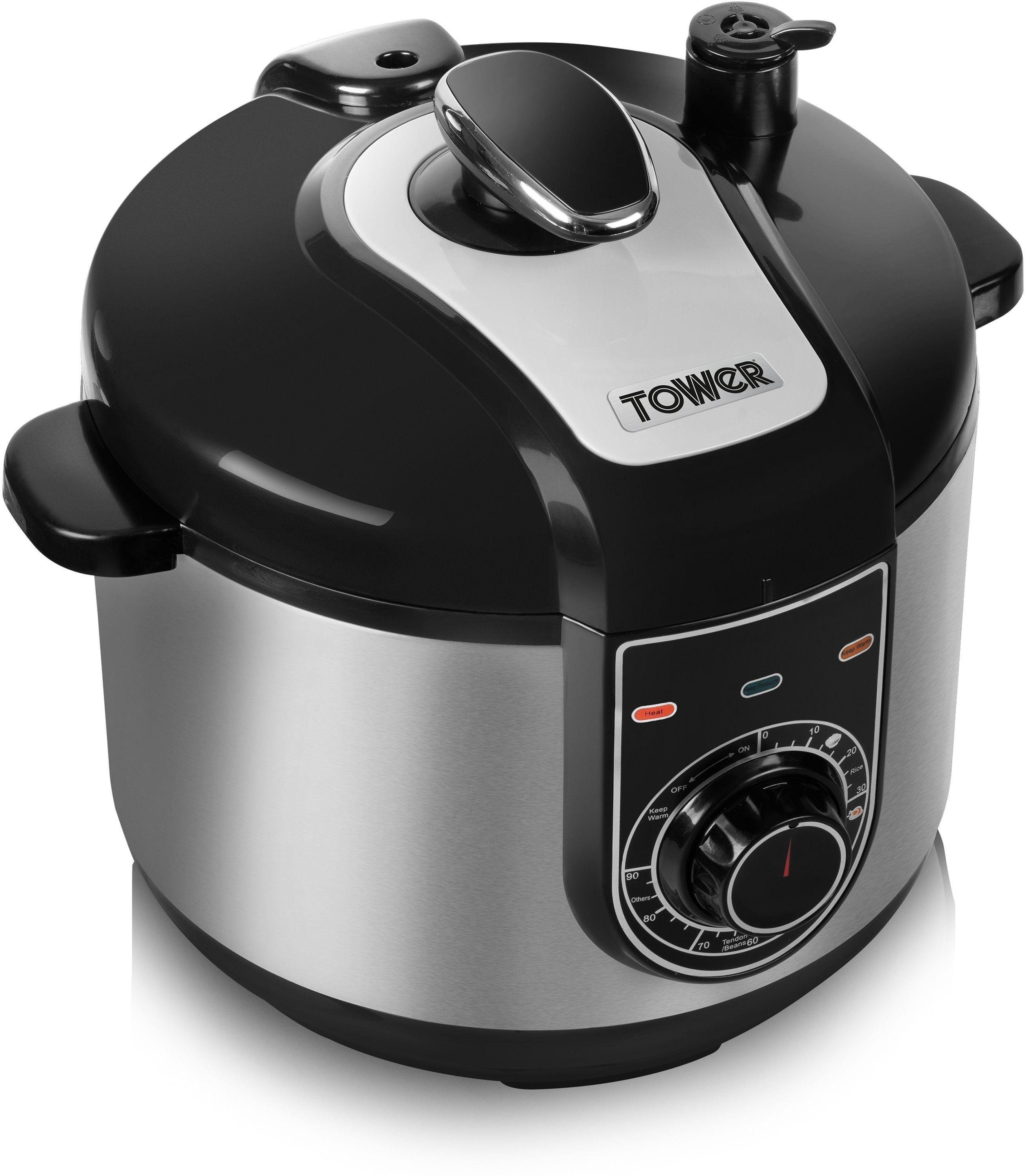 tower 5l electric pressure cooker stainless steel review. Black Bedroom Furniture Sets. Home Design Ideas