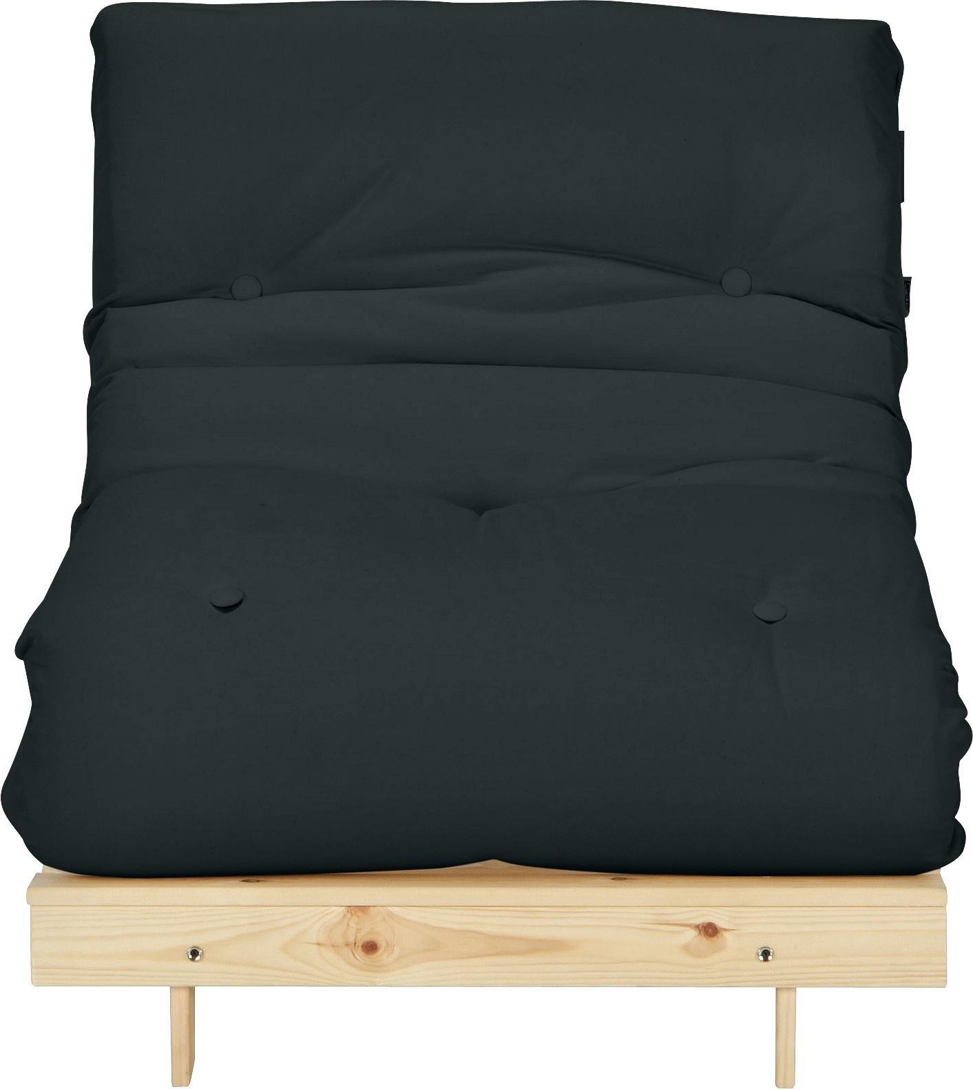 Argos Home Single Futon Sofa Bed with Mattress - Black