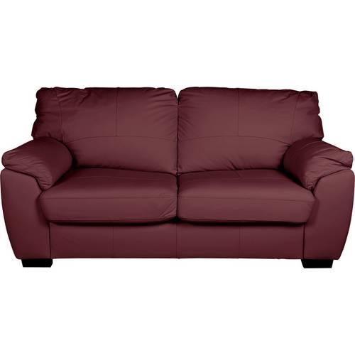Buy Argos Home Milano 3 Seater Leather Sofa - Burgundy | Sofas ...