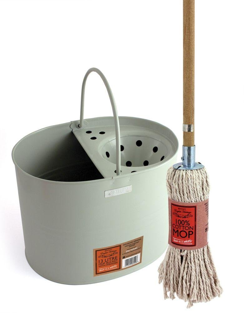 Image of English Heritage Cotton - Mop and Bucket Set
