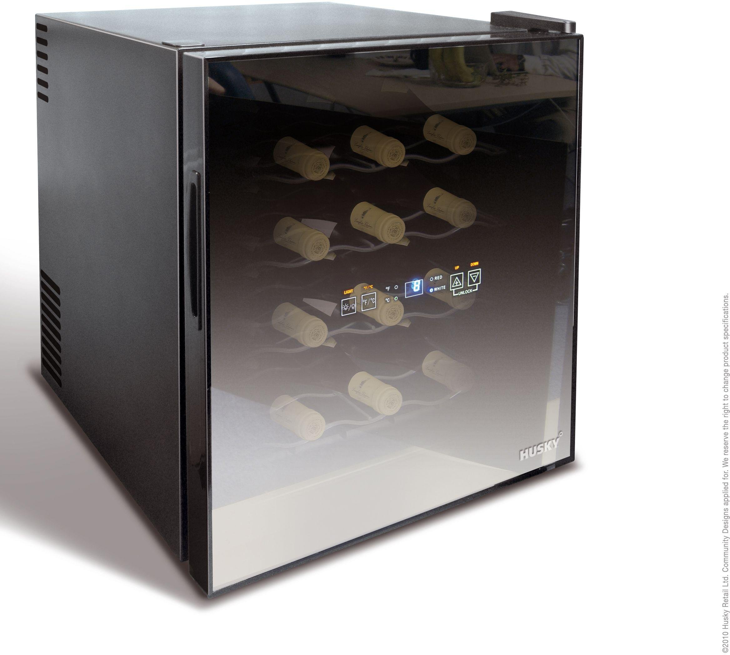 Husky HN5 Reflections Tabletop Wine Cooler - Black.