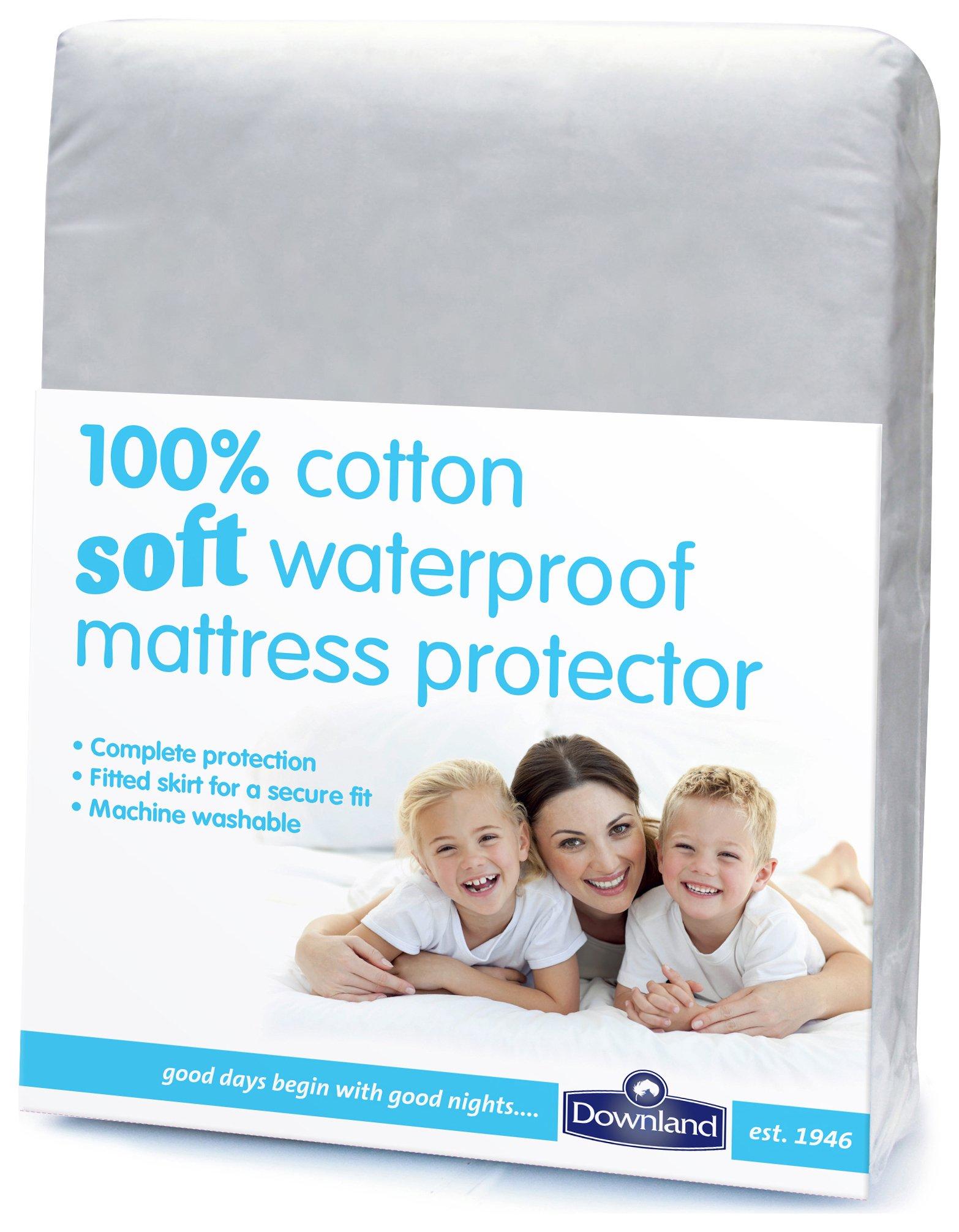 Downland Cotton Soft Waterproof Mattress Protector - Double
