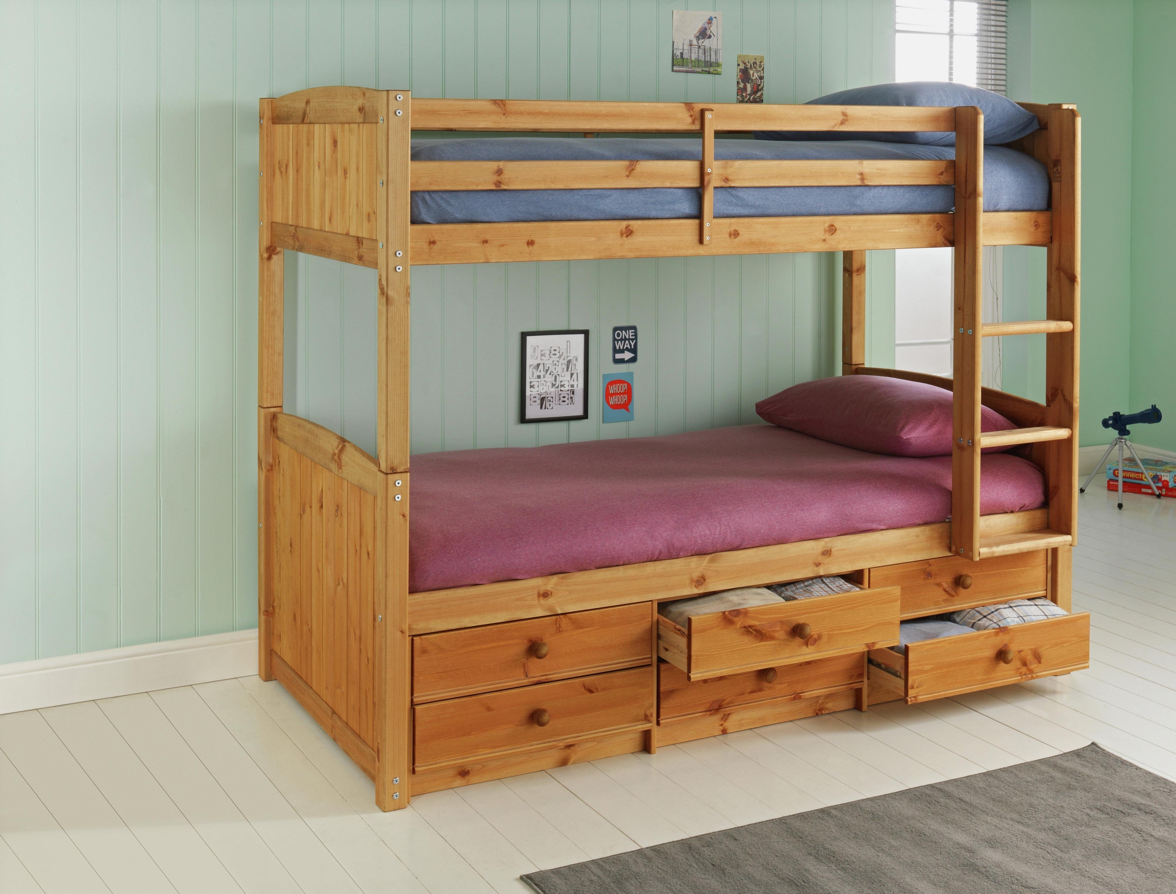 Image of Leigh Detachable - Single Bunk Bed Frame - Pine