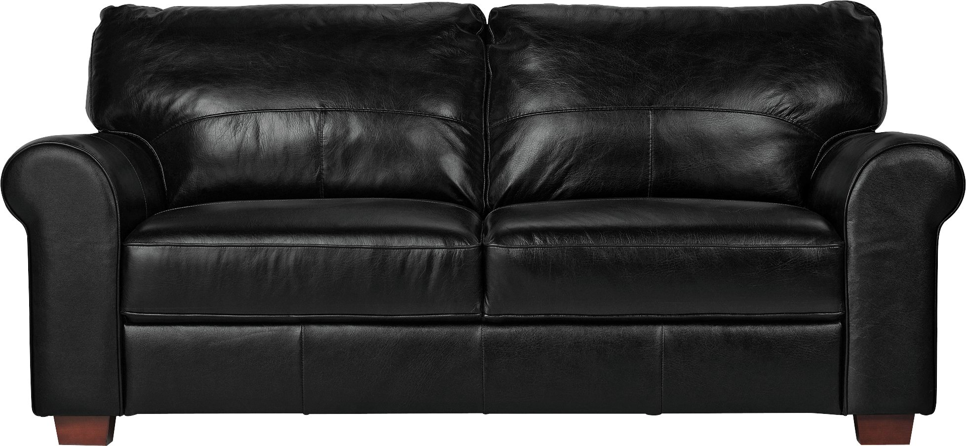 argos home salisbury 3 seater leather sofa black. Black Bedroom Furniture Sets. Home Design Ideas