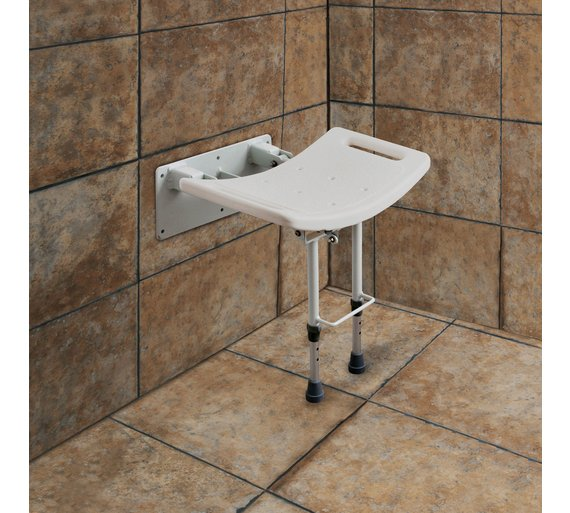 Buy Shower Seat with Legs - Wall Mounted | Shower chairs | Argos