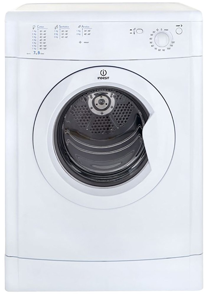 Indesit - Eco-Time IDV75W Vented - Tumble Dryer - White