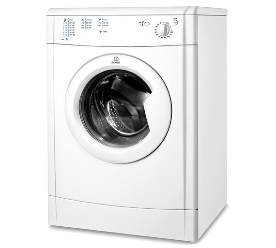 Buy Indesit Eco-Time IDV75W 7KG Vented Tumble Dryer - White at ...