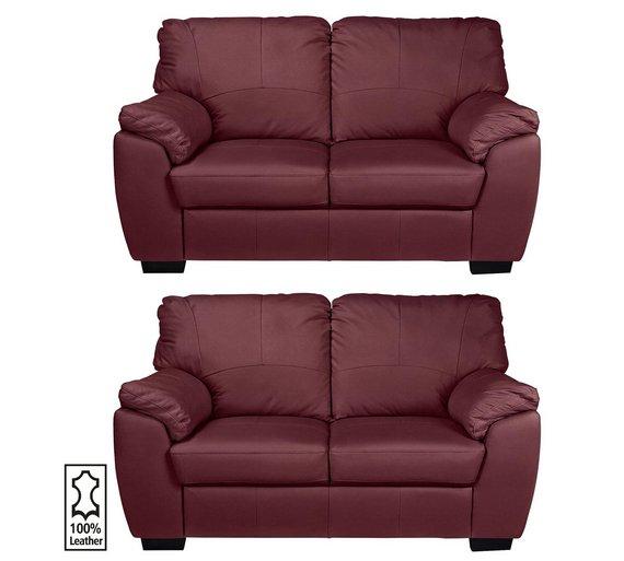 argos red leather sofa. Black Bedroom Furniture Sets. Home Design Ideas