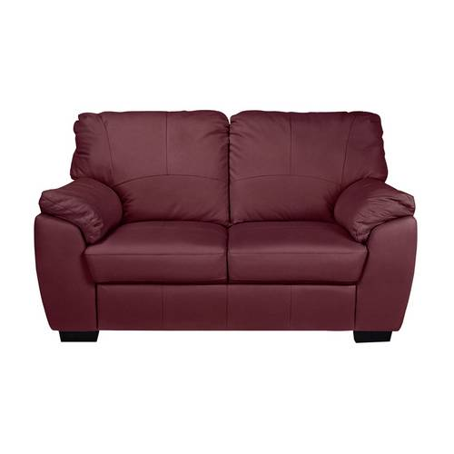 Buy Argos Home Milano Pair of Leather 2 Seater Sofa - Red | Sofa ...