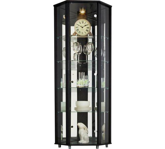Buy Argos Home 1 Glass Door Corner Display Cabinet Black Display