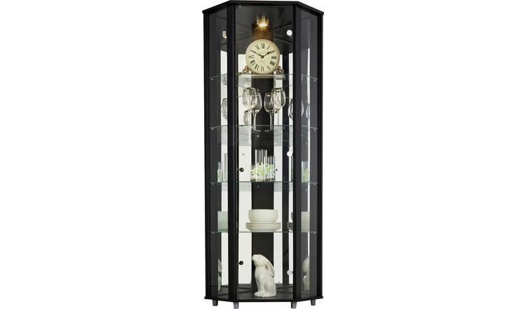 differently c8ec1 3cd48 Buy Argos Home 1 Glass Door Corner Display Cabinet - Black | Display  cabinets | Argos