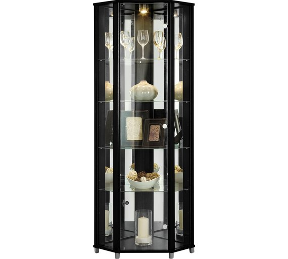 Buy HOME 1 Glass Door Corner Display Cabinet