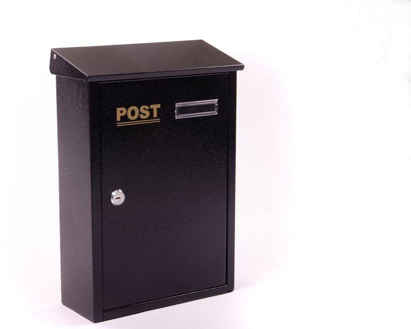 Image of House Nameplate Company Champagne Letterbox - Black.
