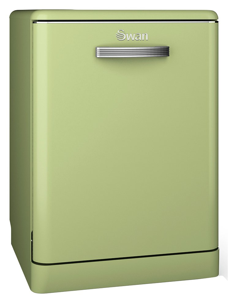 Swan SDW7040GN Retro Dishwasher - Green.