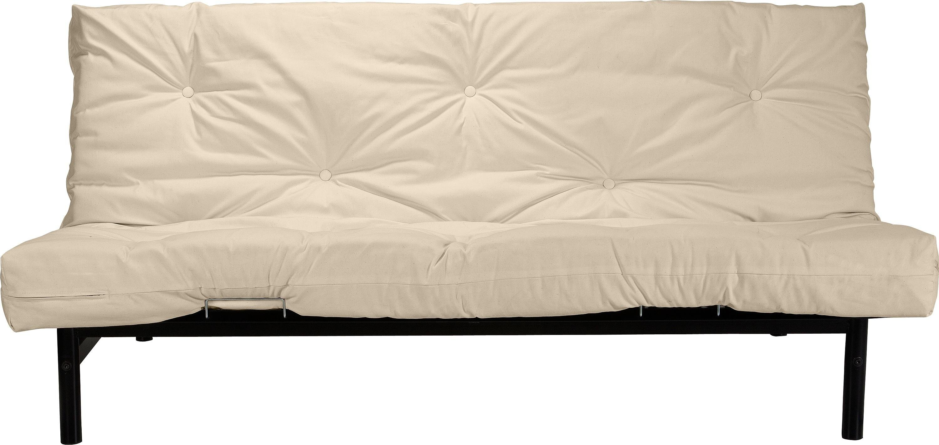 Image of ColourMatch - Clive - 2 Seater - Futon - Sofa Bed - Cotton Cream