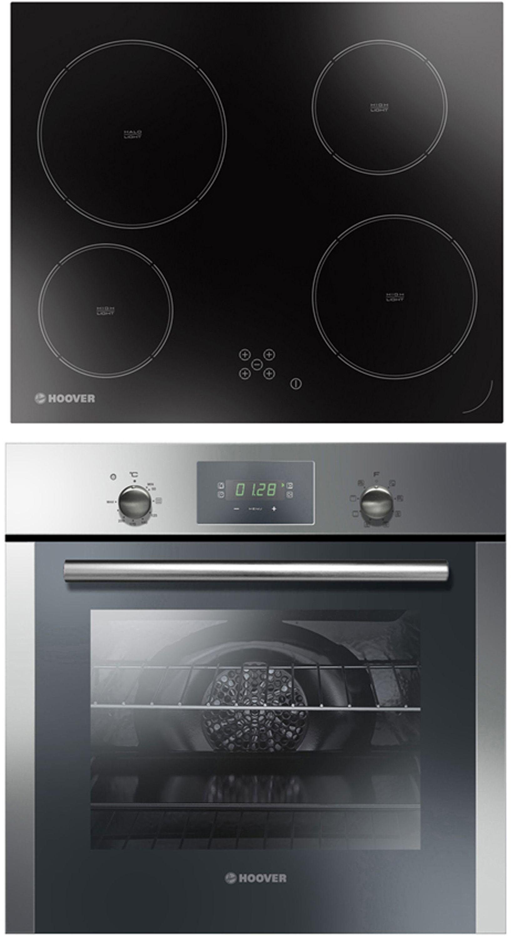 Hoover HPRECM7 Electric Oven with Ceramic Hob - S Steel