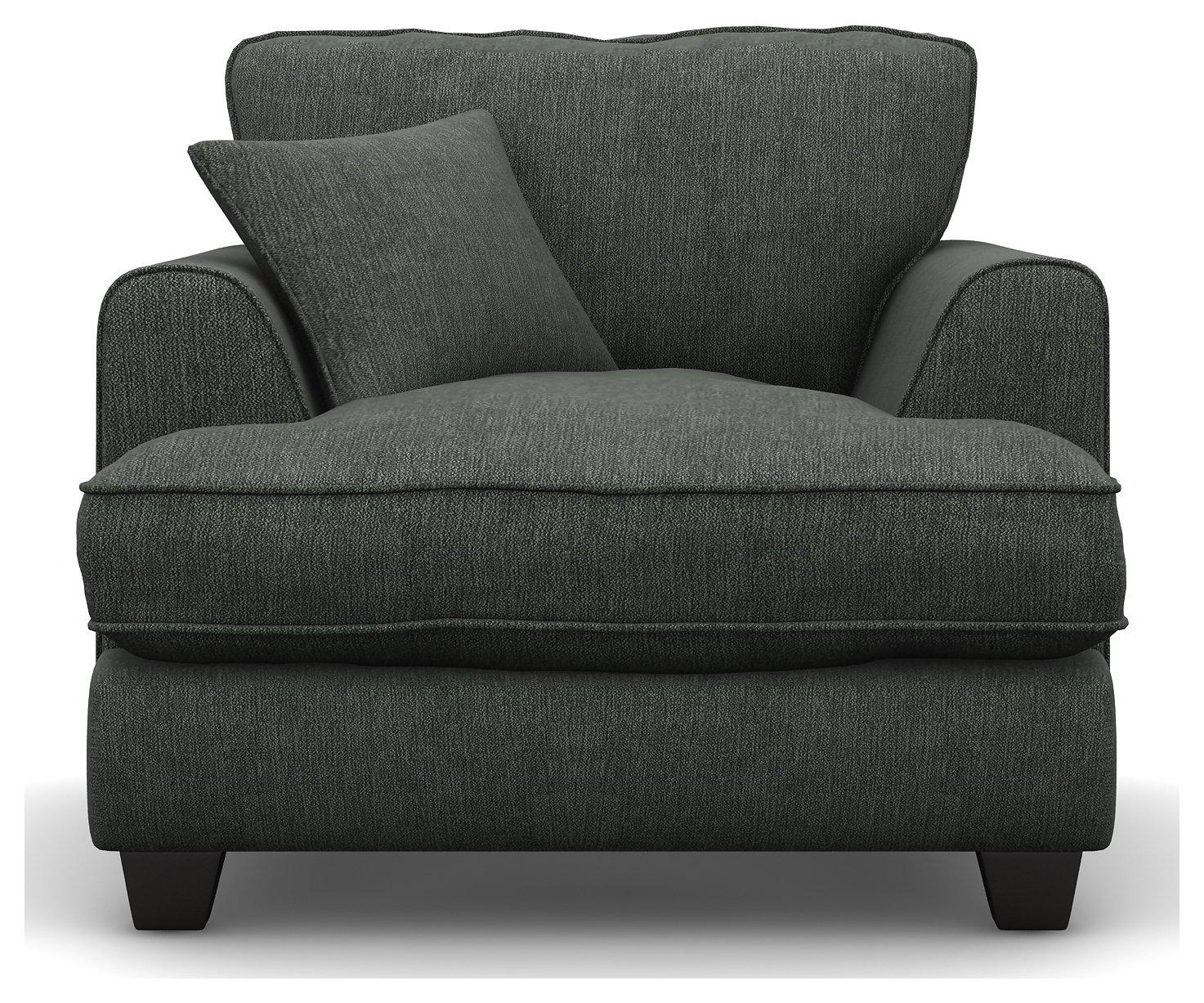 Argos Home Hampstead Fabric Armchair - Pewter