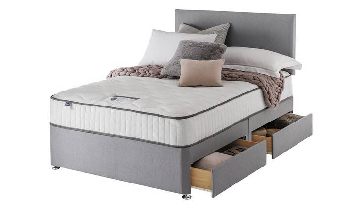 Silentnight Middleton 800 PKT Memory 4DRW Grey King Size