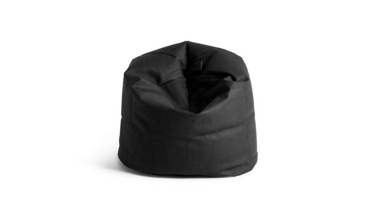 Argos Home Faux Leather Bean Bag - Black