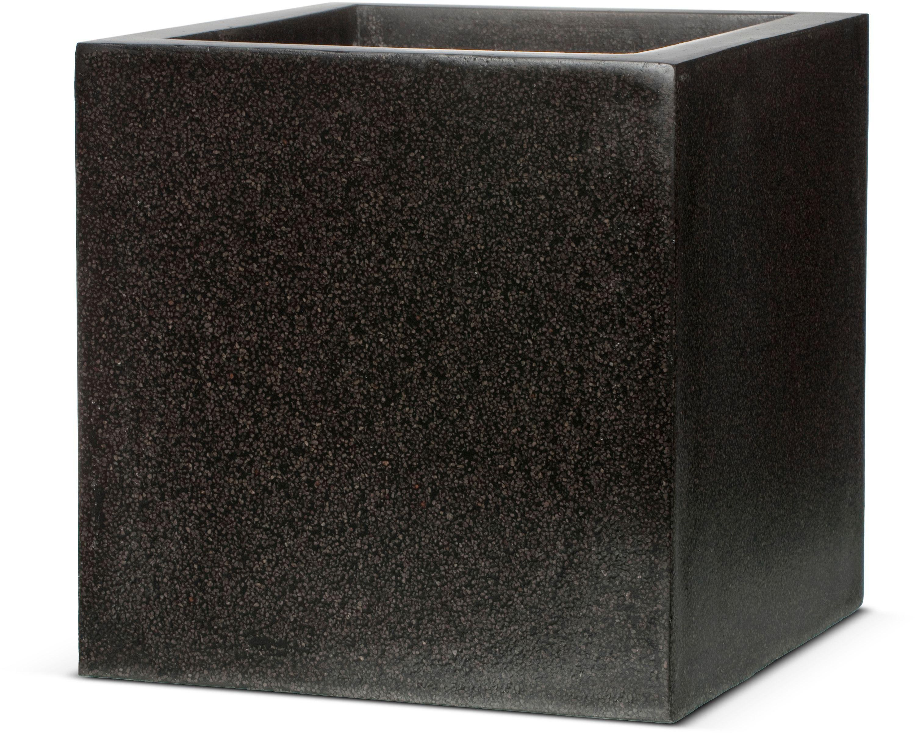 Image of Capi Lux Black Square Planter - 40cm.