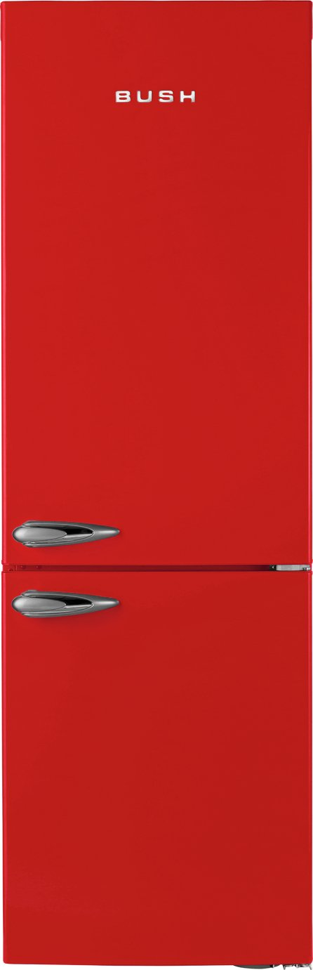 Image of Bush - Classic BFFF60 Retro - Fridge Freezer - Red