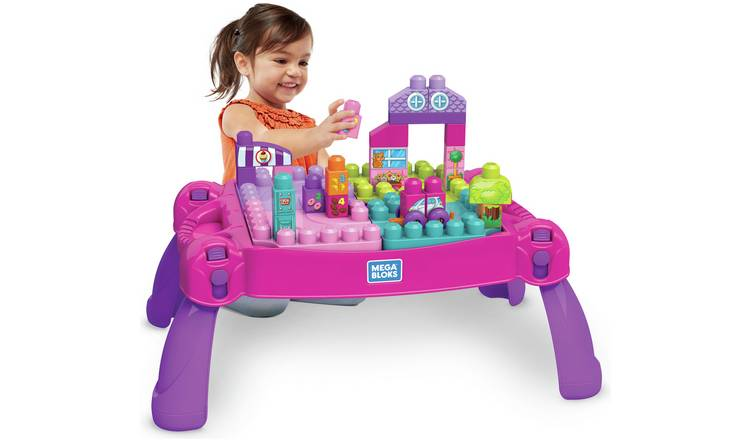 Mega Bloks Build n Learn Table – Pink