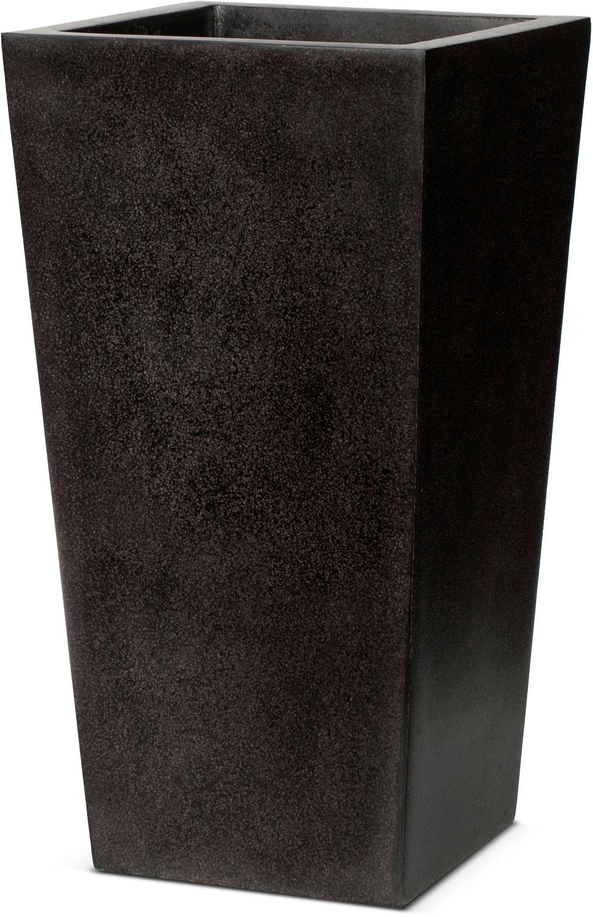 Image of Capi Lux Black Tapered Planter - 24 x 46cm.