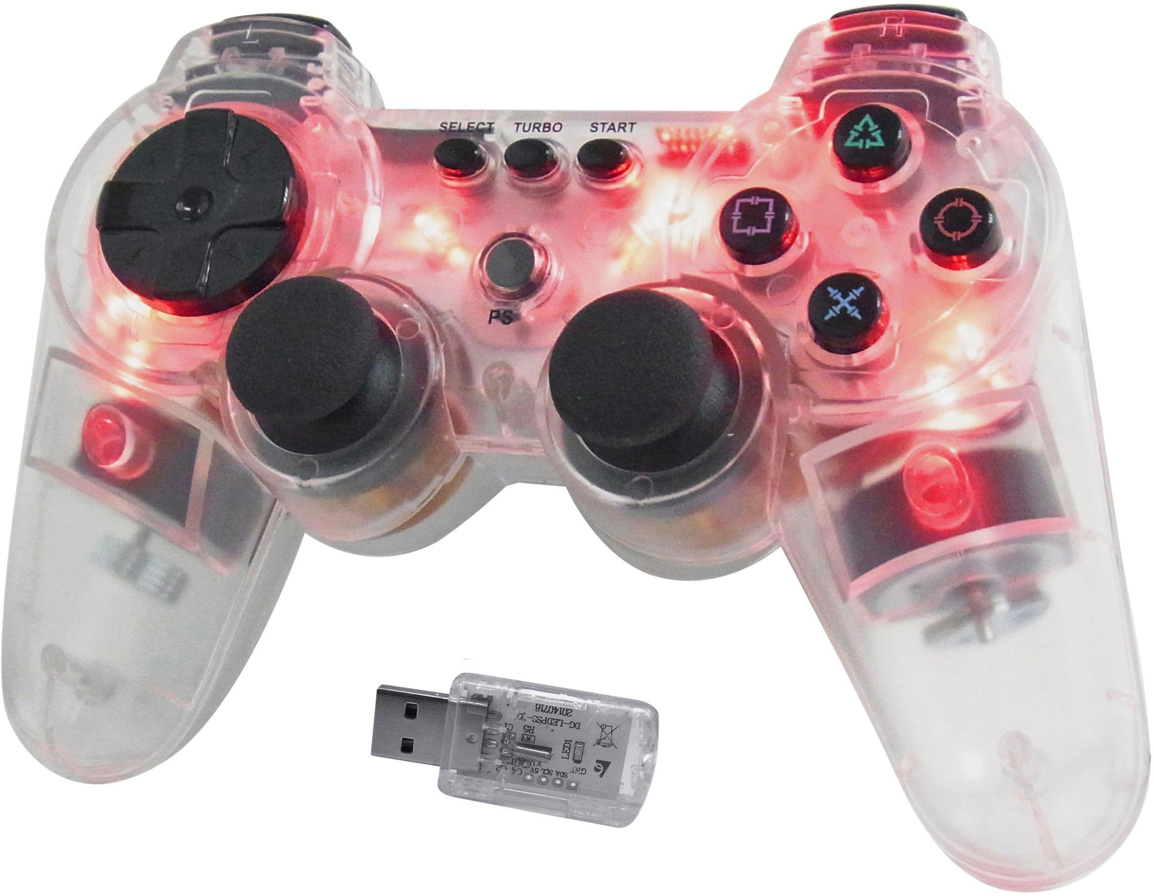 'Ps3 - Wireless Controller - Glowing Red