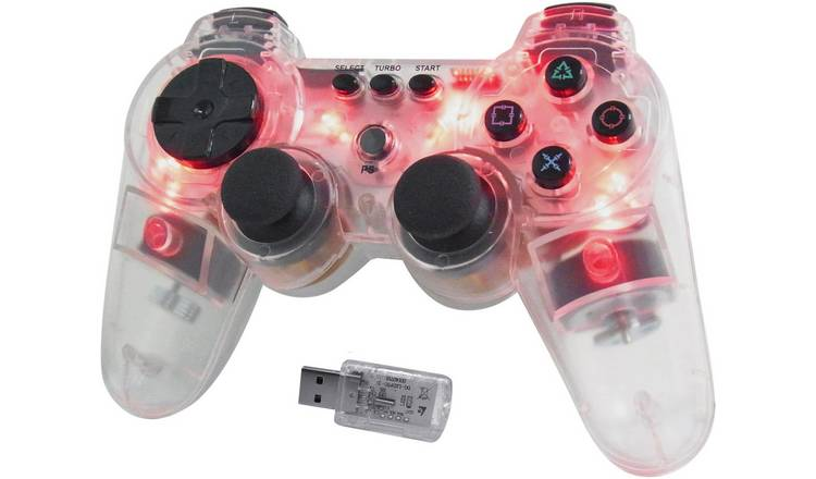 Wireless Controller for PS3 - Glowing Red