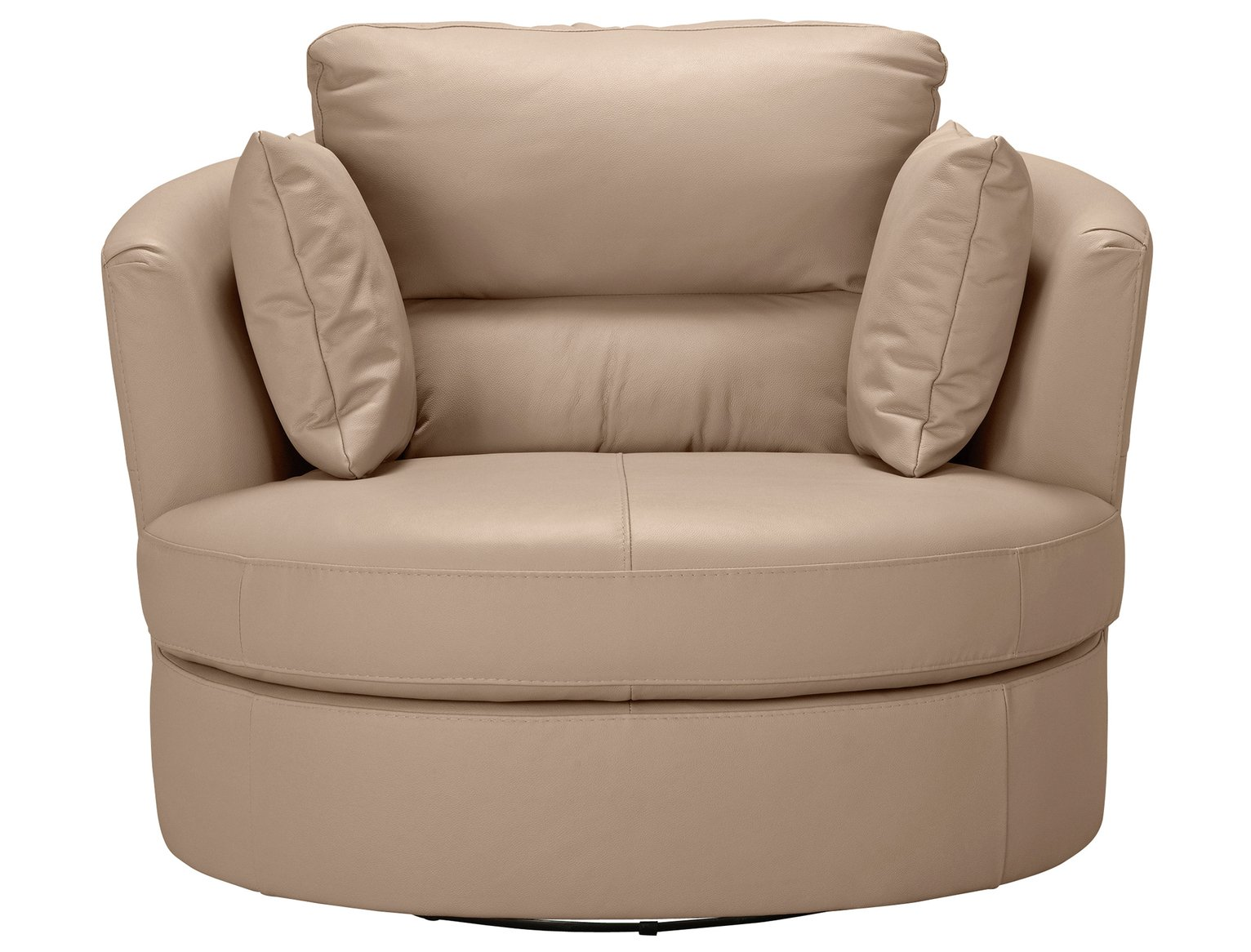 Argos Home Trieste Leather Swivel Chair - Taupe