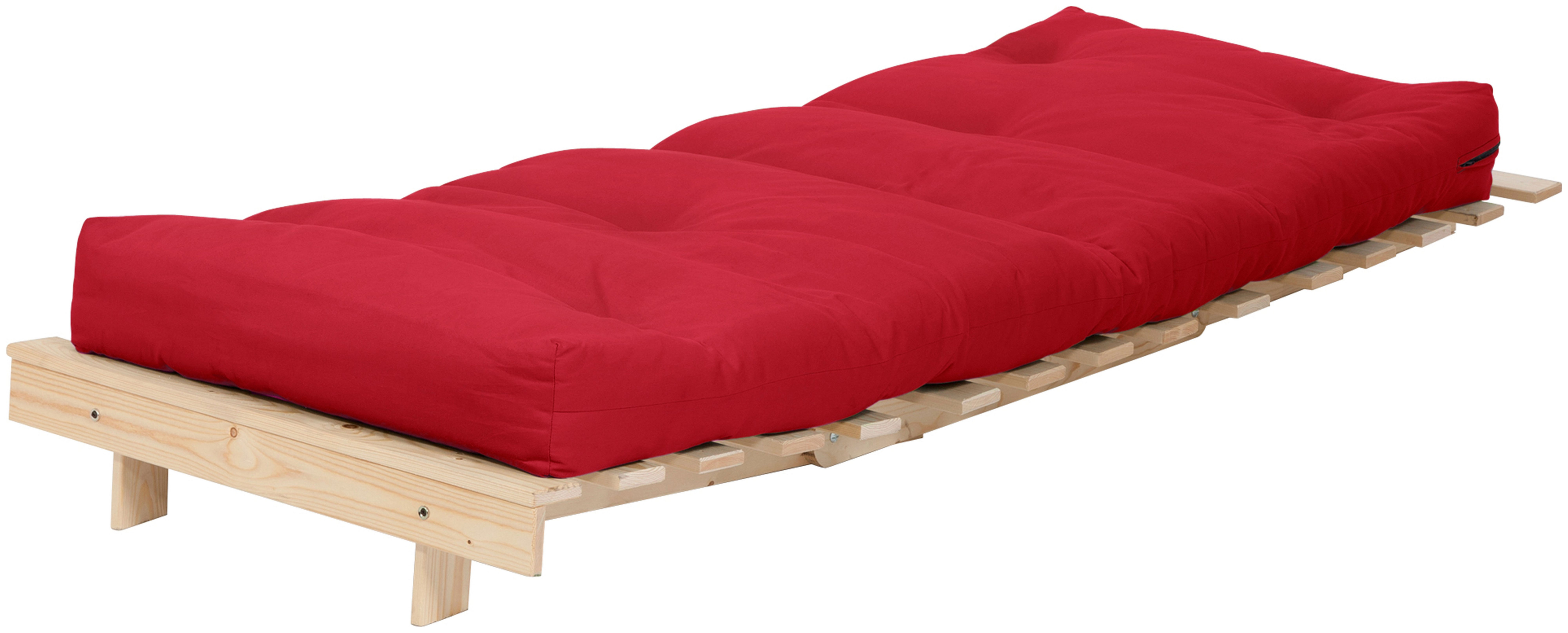 Habitat Single Futon Sofa Bed with Mattress - Red