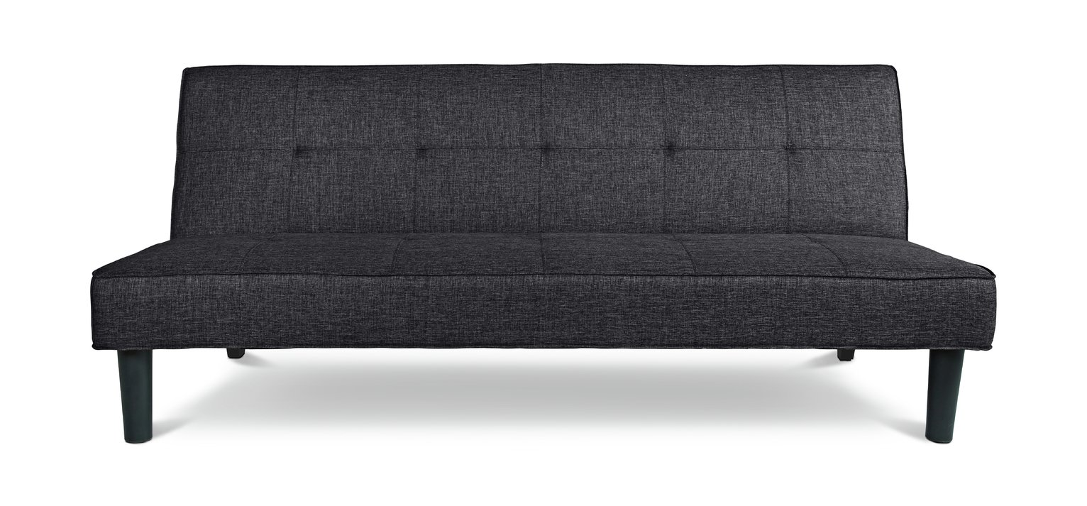 Argos Home Patsy 2 Seater Clic Clac Sofa Bed - Charcoal