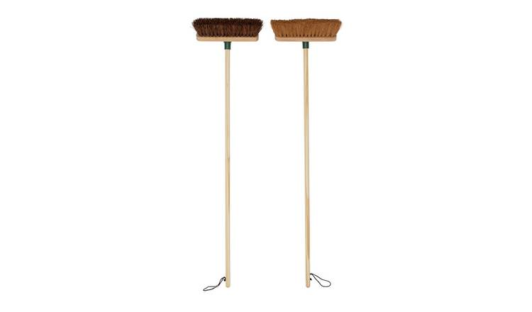 Heritage Set of 2 Stiff and Soft Broom Set