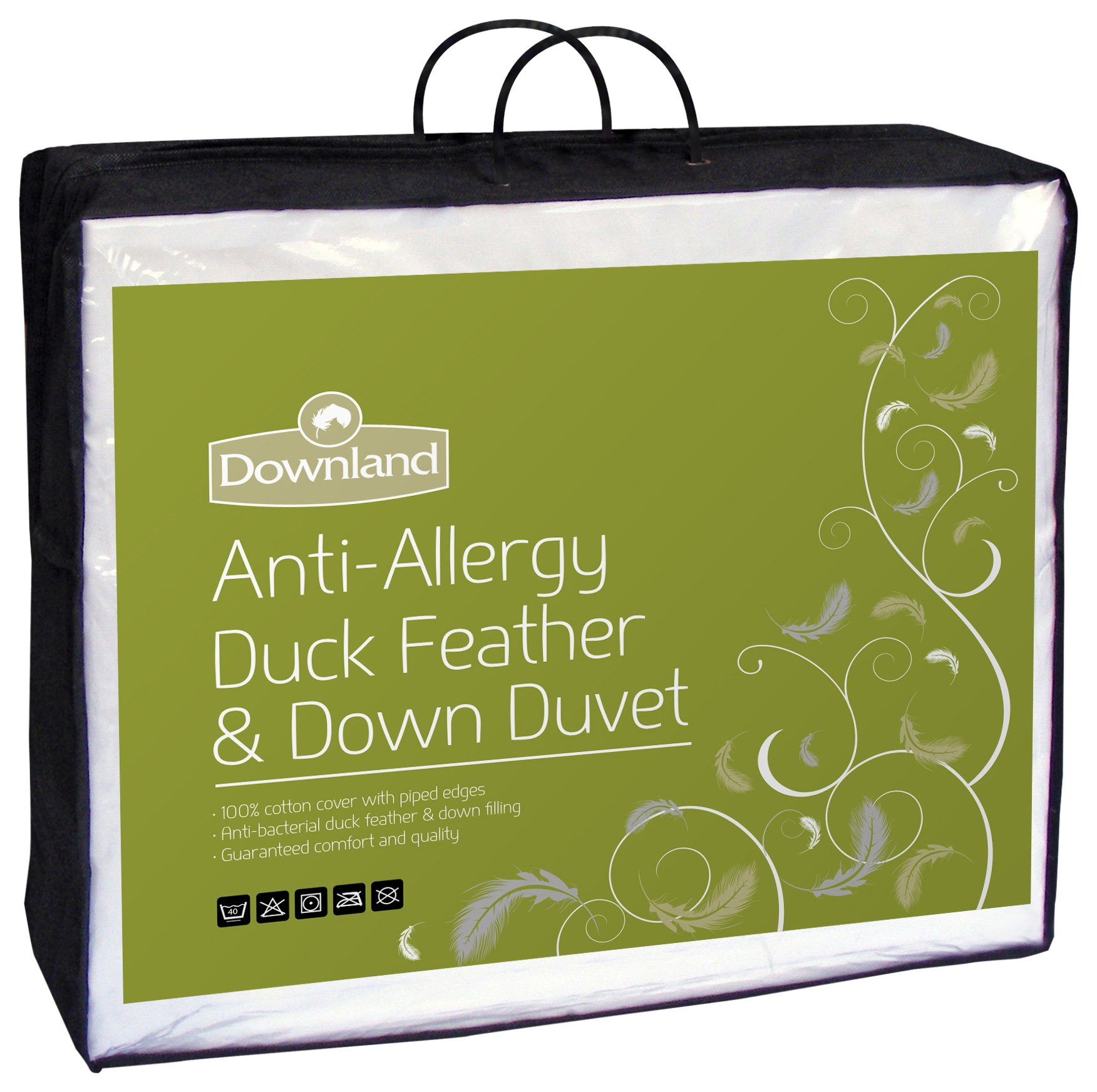 downland  15 tog duck, feather and down  duvet  double