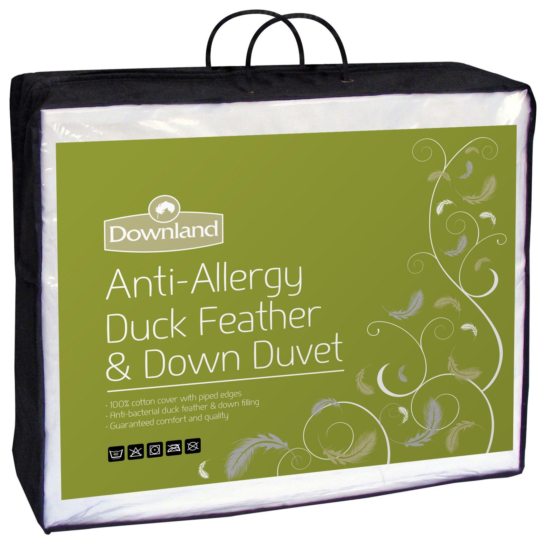 Downland Duck Feather & Down Anti-Allergy 15 Tog Duvet - Dbl